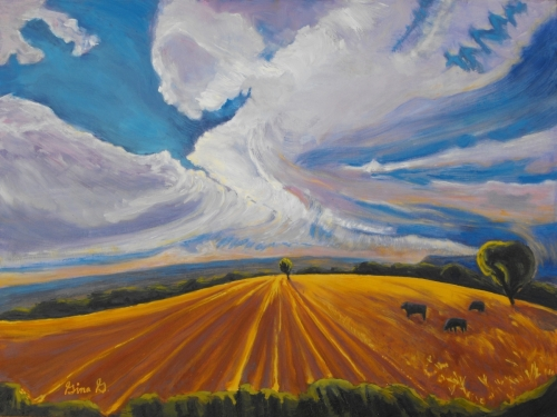 Where Earth Meets Sky by Gina Grundemann, Colorado Landscape Painter