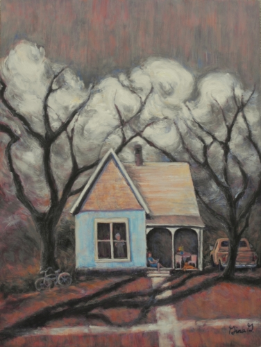 Shelter Below the Storm by Gina Grundemann, Colorado Painter