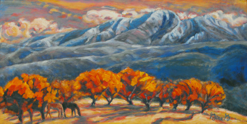 High Mountain Orchard by Gina Grundemann, Colorado Landscape Painter
