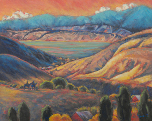 Canyon Ride by Gina Grundemann, Colorado Landscape Painter