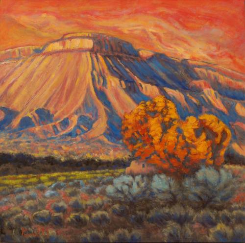 Sundown on Mount Garfield by Gina Grundemann, Colorado Painter