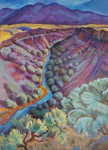 Rio Grande in September by Gina Grundemann, Colorado Landscape Painter