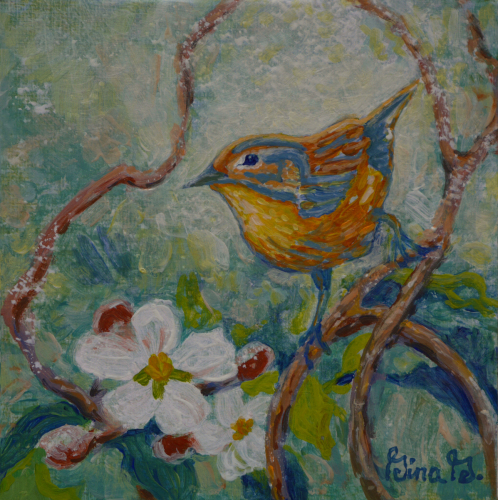 Apple Blossom Perch