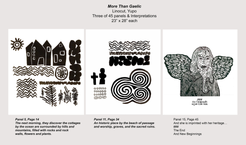 Sample page of A Printmaker's Heritage: More Than Gaelic