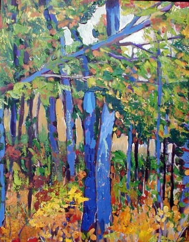 Trees in the woods (large view)