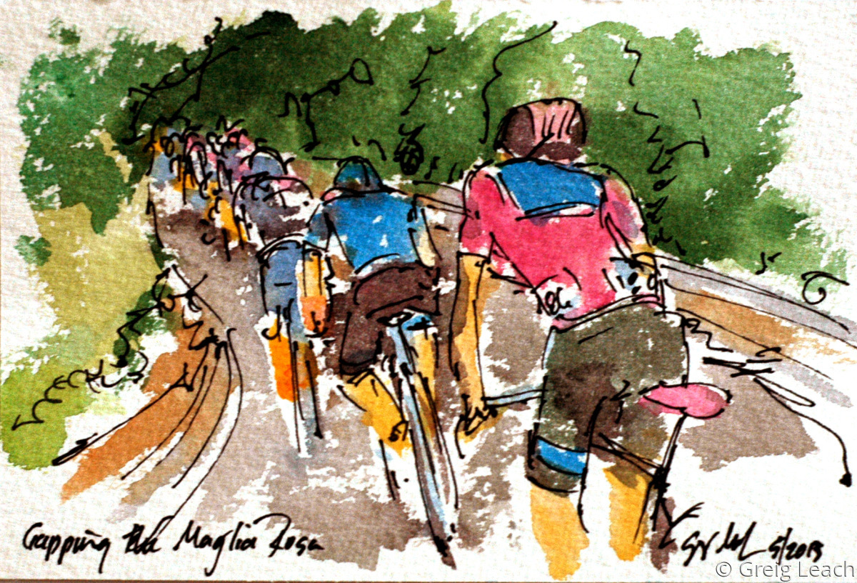 Gapping the Maglia Rosa (large view)