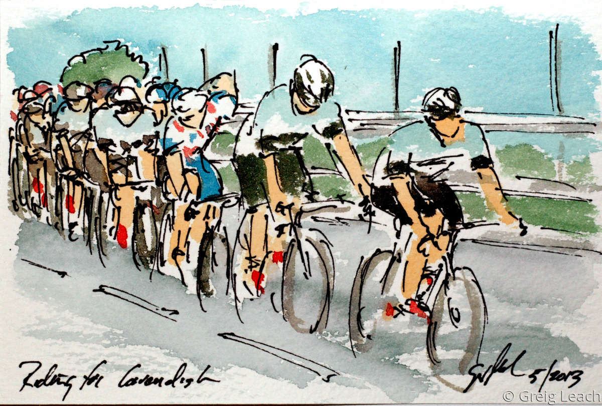 Riding for Cavendish (large view)