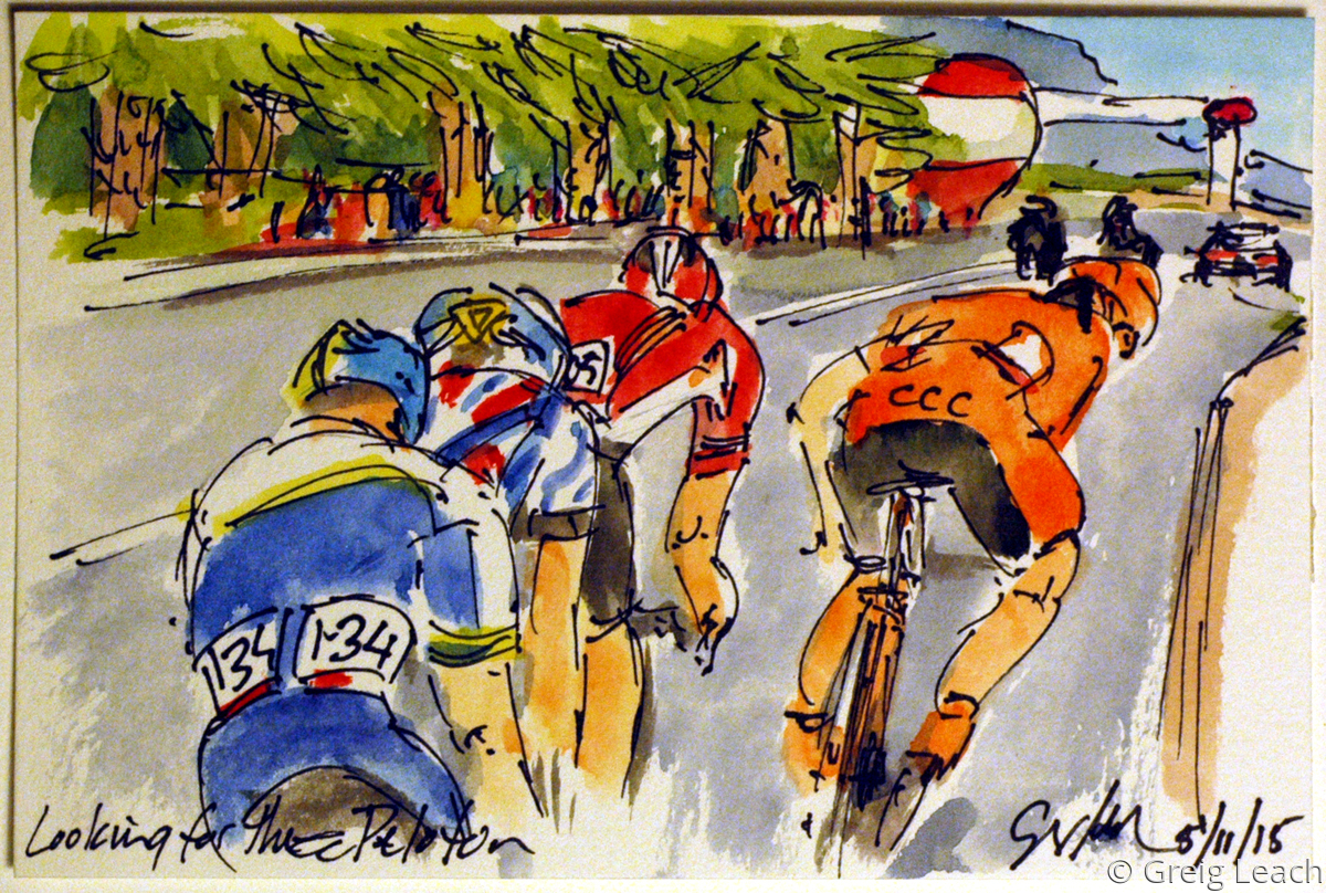 Looking for the Peloton (large view)