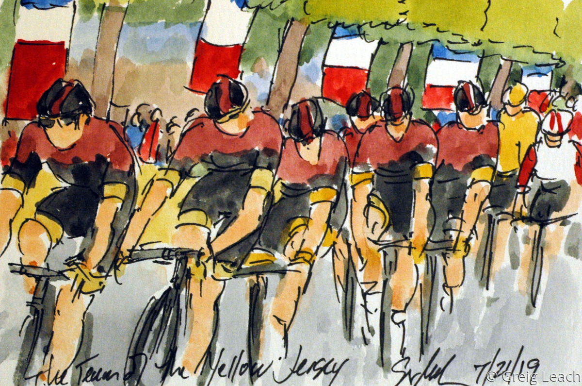 The Team of the Yellow Jersey  TDF19-122 (large view)