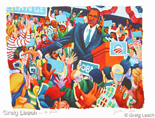 Our Hands Are His Hands - Giclee print by Greig Leach