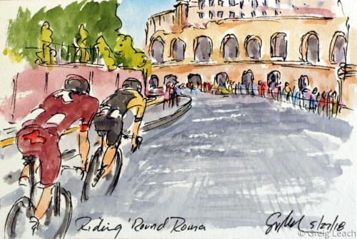 Riding 'Round Roma  G18-99 by Greig Leach