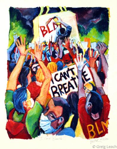 """I Can't Breathe!"" by Greig Leach"