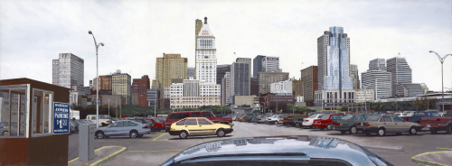 Riverfront Parking by glenn moreton -- contemporary realism