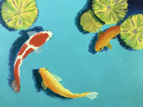 Three Small Koi Fish