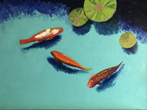 Three Large Koi Fish