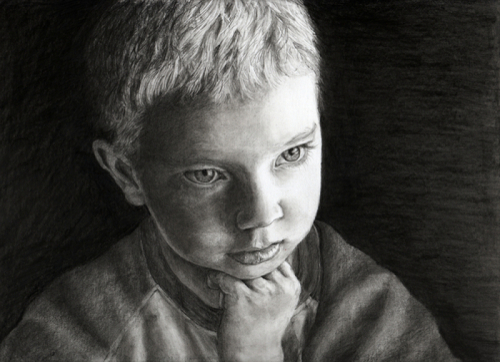 Drew Deep in Thought by Gloria E. Moses