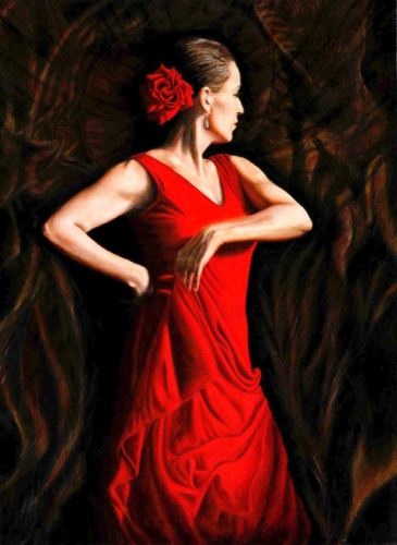 Dancer in the Red Dress by Gloria E. Moses