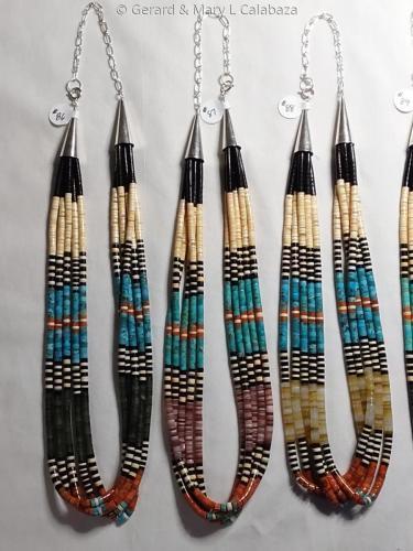 5 Strand Multicolor Heshi Necklaces by Gerard & Mary L Calabaza