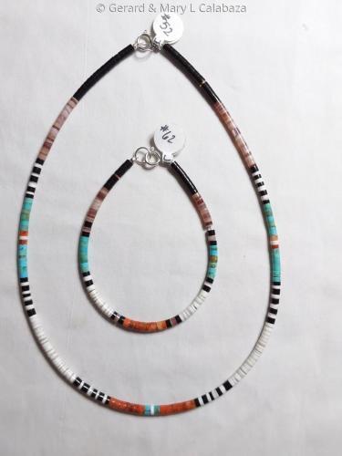 #52-16 Multicolor Necklace & 7 Bracelet Set by Gerard Jr.