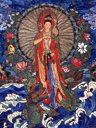 Quan Yin And The Dragon King (large view)