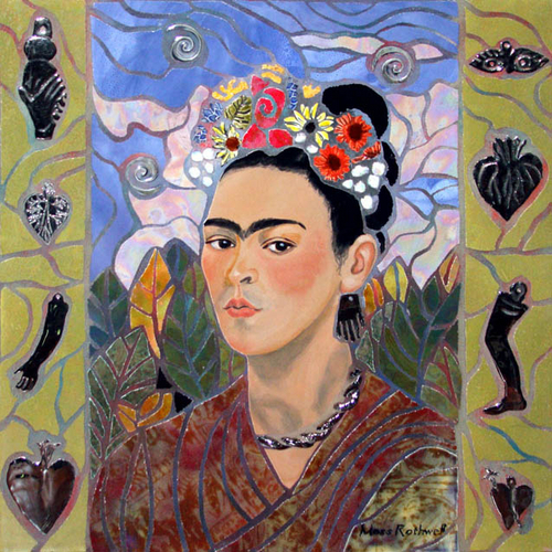 Frida With Flowers (large view)