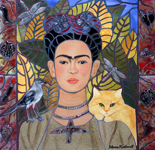 Frida With Mockingbird And Cat (large view)