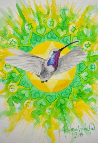 Lucifer's Hummingbird over Heart Chakra