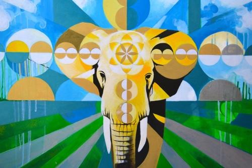Elephant Power Mandala (Gold Edition)