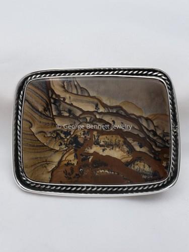 Biggs Jasper Buckle by George O. Bennett Jewelry