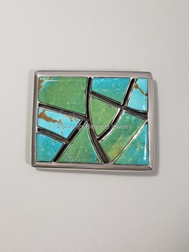 Turquoise Buckle by George O. Bennett Jewelry