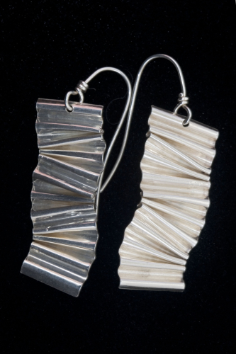 Sterling Crimped Earrings