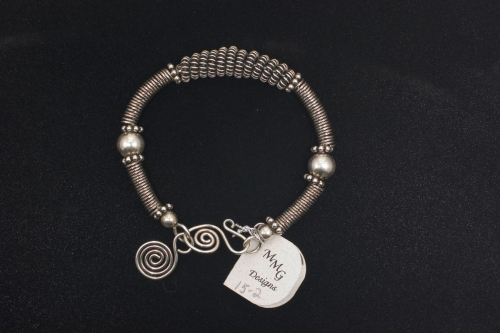 Sterling coiled bracelet