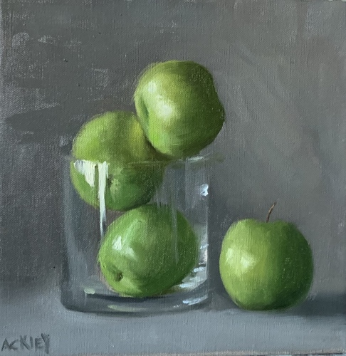 Green Apples in Glass