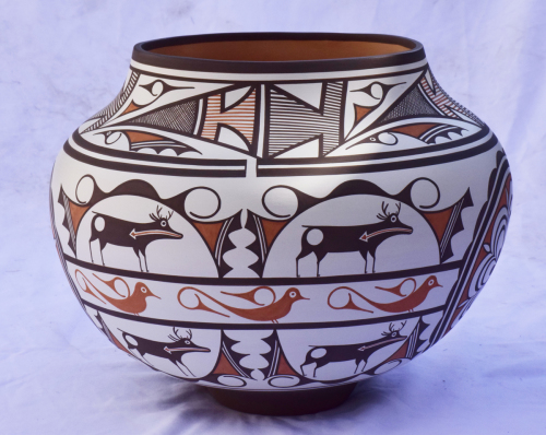 Large Zuni Polychrome Jar by Gabriel Paloma