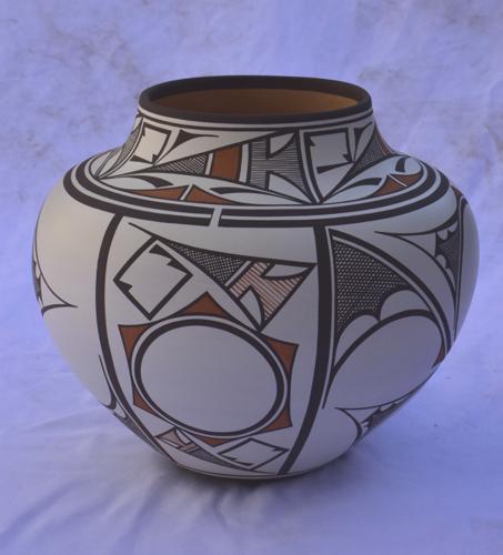 Sun/Lightning Poly chrome Zuni Water Jar by Gabriel Paloma