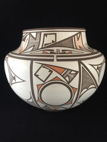Sun/Lightning Polychrome Zuni Water Jar