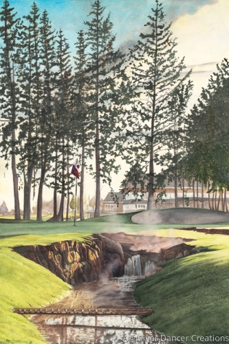 Fought Course 16th Hole by River Dancer Creations