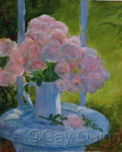 Pink Roses with Morning Light