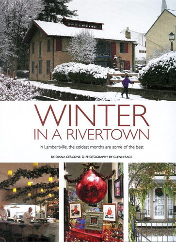 Winter in a Rivertown