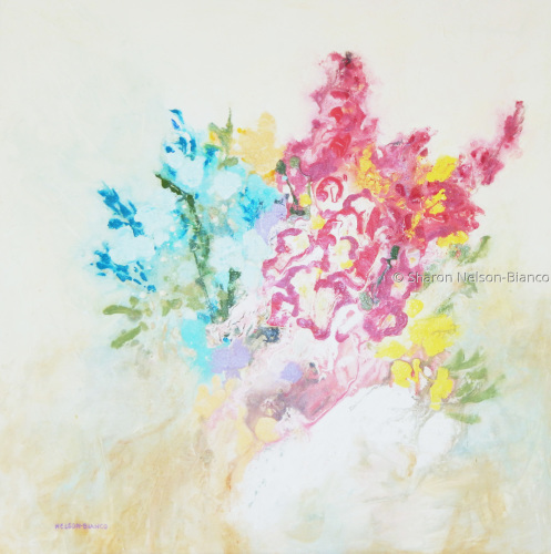 Floral Dreamscape: Barbara's Bouquet by Sharon Nelson-Bianco