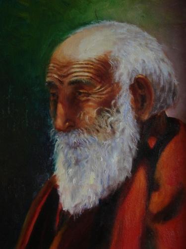 Tibetan Monk by Grace Su