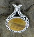 Celtic Oval Tigereye Pendant (thumbnail)