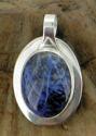 Sodalite & Sapphire Pendant (thumbnail)