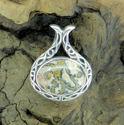Celtic Oval Brecciated Jasper Pendant (thumbnail)