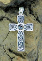 Celtic Cross w/Rose Cut Garnet (thumbnail)