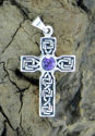 Celtic Cross w/Amethyst (thumbnail)