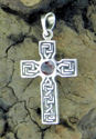 Celtic Cross w/Garnet (thumbnail)