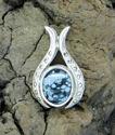 Small Oval Pendant w/Obsidian (thumbnail)