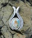 Small Oval Pendant w/Green Jasper (thumbnail)