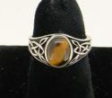 Celtic Ring w/Tigereye (thumbnail)